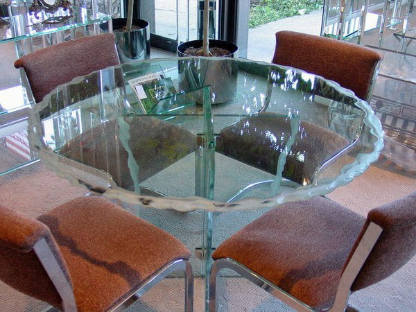 Wilmette Glass Tables Wilmette Glass Table Top Wilmette Glass Dining Table