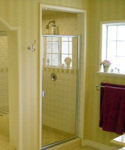Glenview framed glass shower door