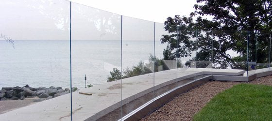 Lake Forest Glass Deck Railings