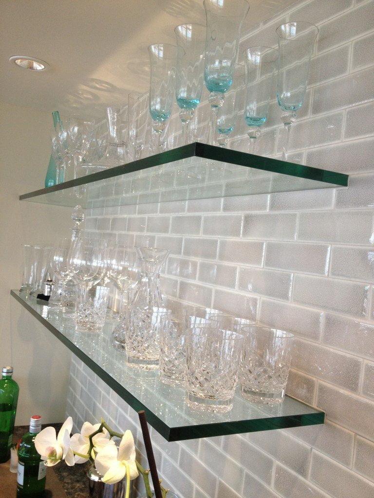 glass shelves chicago custom floating glass shelves glassworks rh glassworks net  floating glass shelves with towel bar