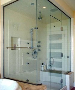Glenview steam glass doors